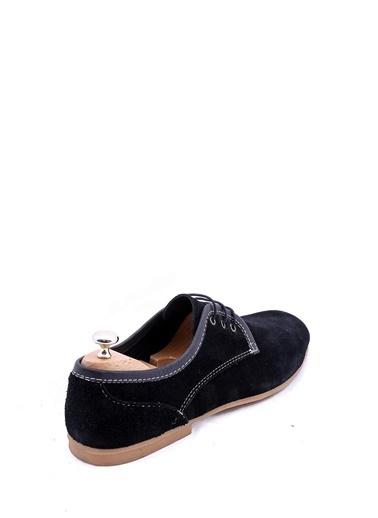 Wessi Wessi Bağcıklı Süet Erkek Klasik Ayakkabı Siyah